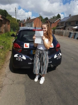 Passed her driving test 1st Time on 12072017<br />